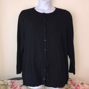 Croft & Barrow Black Button Cardigan Sweater 3x
